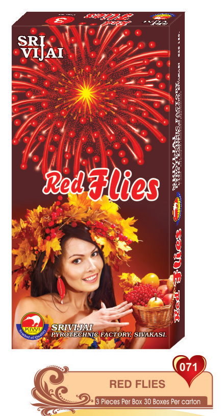 RED FLIES (3 PCS)